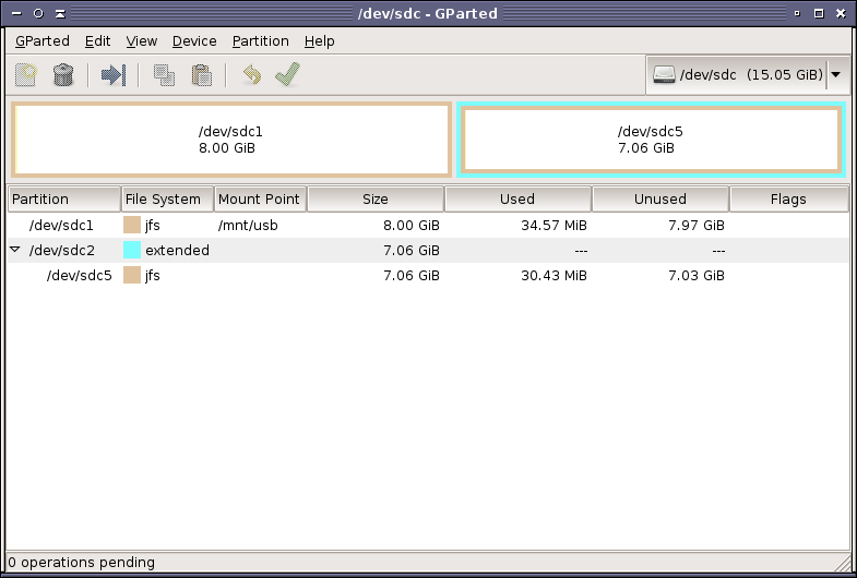 Missing Partitions in GParted